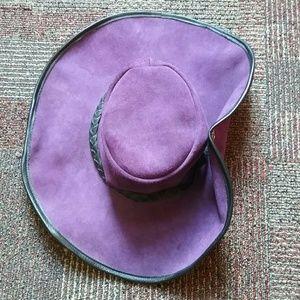 Big Ol' Leather Purple Pirate Pimp Hat